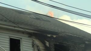 Douglas Ave Fire Flames