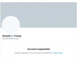 Trump Twitter Suspension