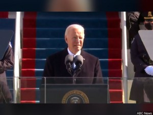 President Biden delivers his inaugural address.