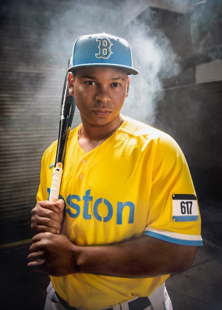 Boston Red Sox Nike City Connect Uniform Player Portrait